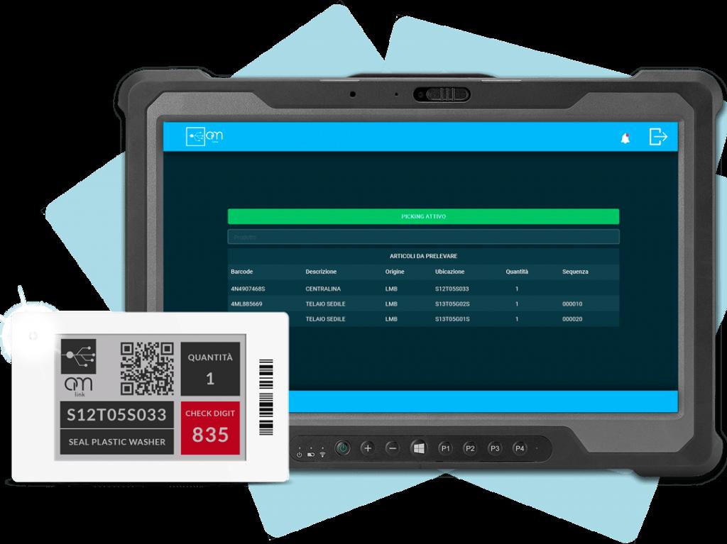tablet schermata om-link operatività