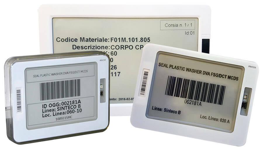 esempi personalizzazione layout etichette elettroniche pick to light system
