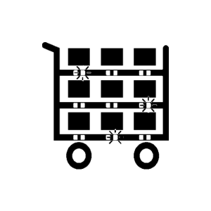 Supermarket linea icona