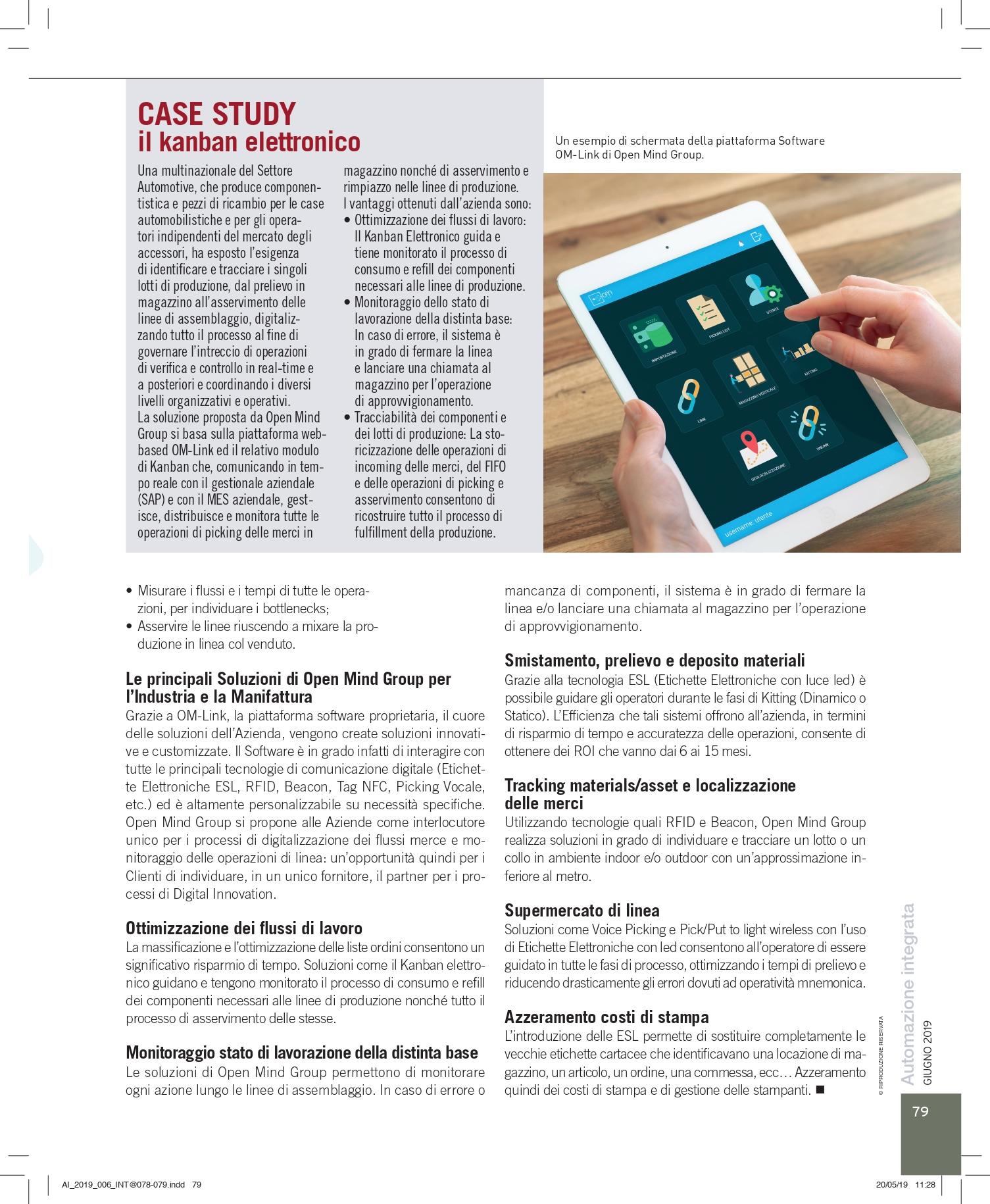 Articolo Magazine Automazione Integrata Pag.79