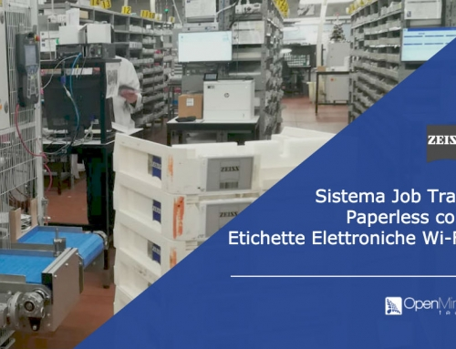 Sistema Job Tray paperless con Etichette Elettroniche Wireless