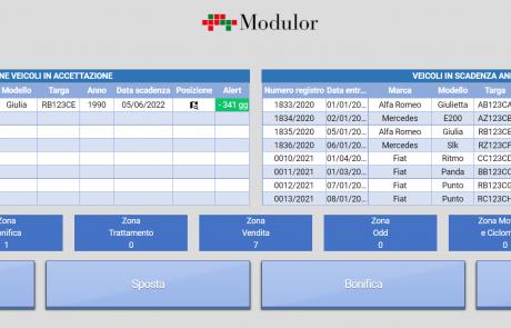dashboard software localizzazione e tracciabilità