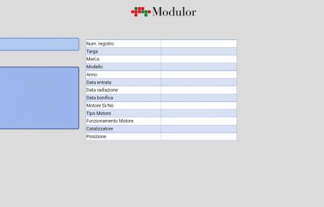Schermata software tracciabilità