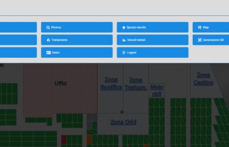 Menù software localizzazione e tracciabilità aoutdoor